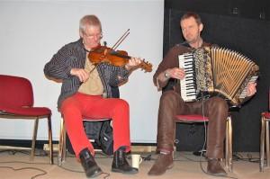Legendaren Björn Ståbi och mästerdragspelaren Bengan Janson - en duo i världsklass