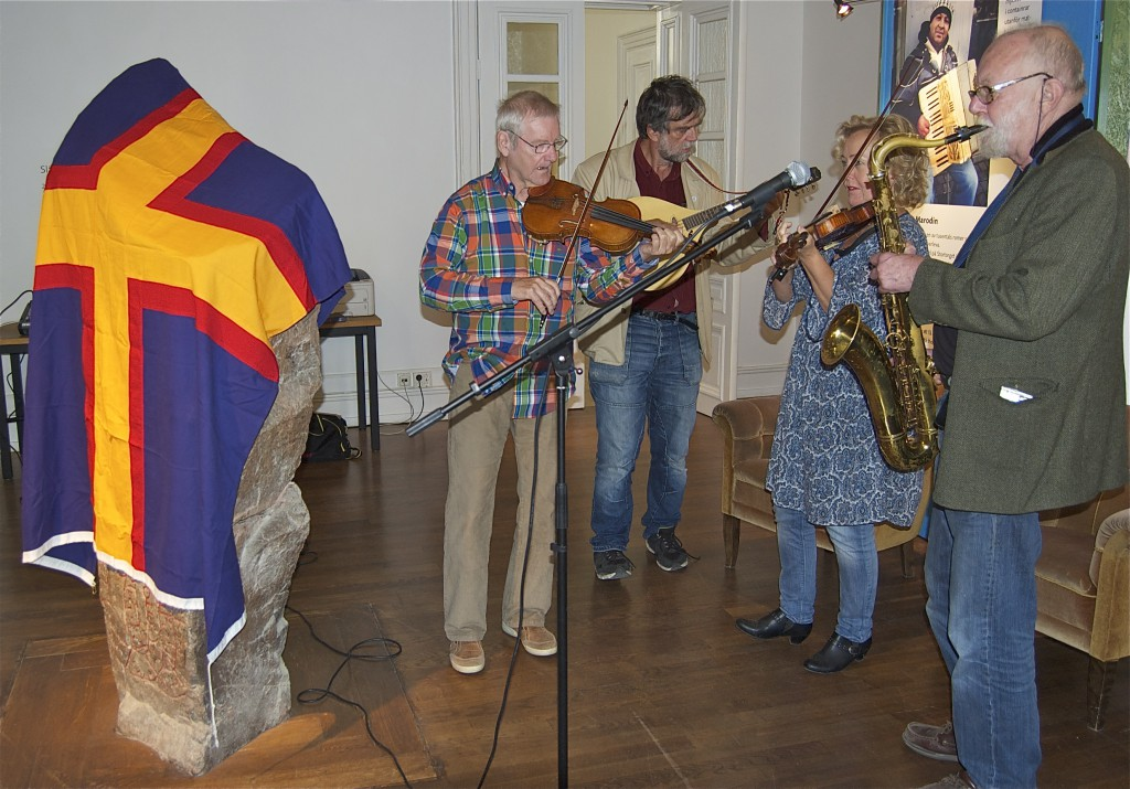 Akademiorkestern: Björn Ståbi, Jens Ahlbom, Eiwor Kjellberg, Ola Granath. Foto: Jonas Sima