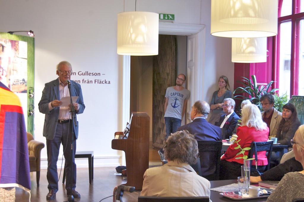 Jonas Sima presenterar sin undersökning kring jazzklarinettisten Åke Hasselgård död och öde. Foto: Inger Edvardsson