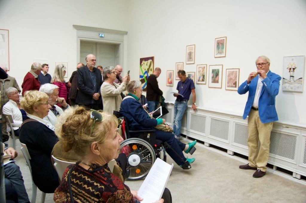 Jonas Sima blåste in utställningen på Konstakademin i Stockholm