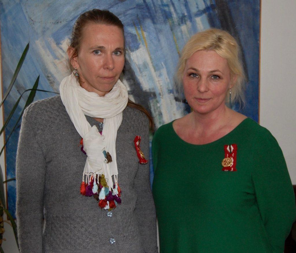 Ann-Caroline Breig och Helena Brusell är nya ledamöter i Hälsinge Akademi. Foto: Lillemor Granath.